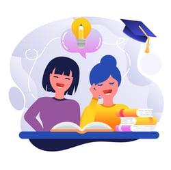 étudiant cours en ligne équipe